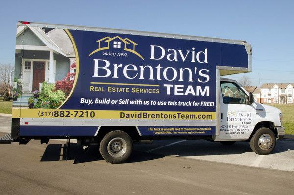 David Brenton's Team's branded moving van